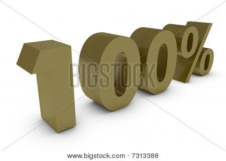 Três por cento Dimensional em ouro