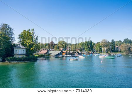 An image of the Starnberg Lake in Bavaria Germany - Tutzing