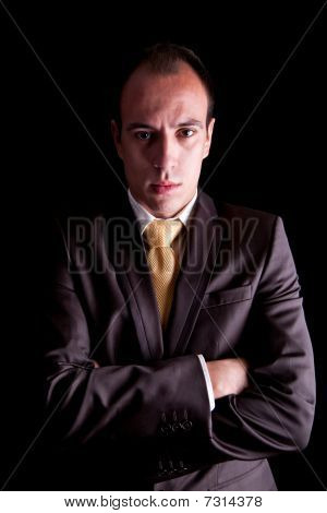 Young Business Man With A Serious Look