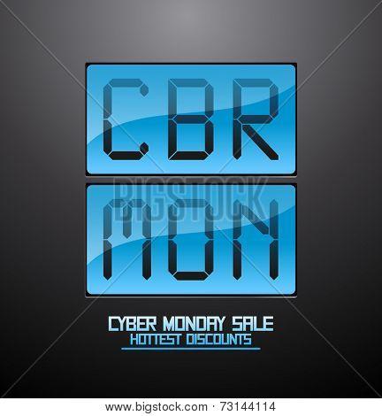 Cyber monday discounts flip clock banner.