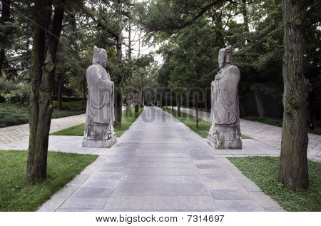 Stone statues at Ming Xiaoling