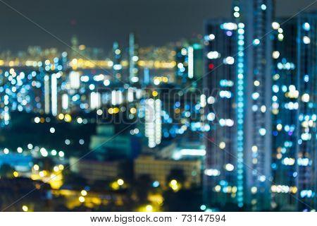 Blured lighhts , Hong Kong