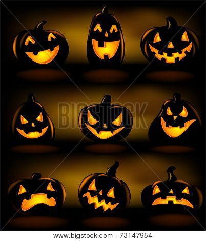 Halloween lanterns, vector illustration.