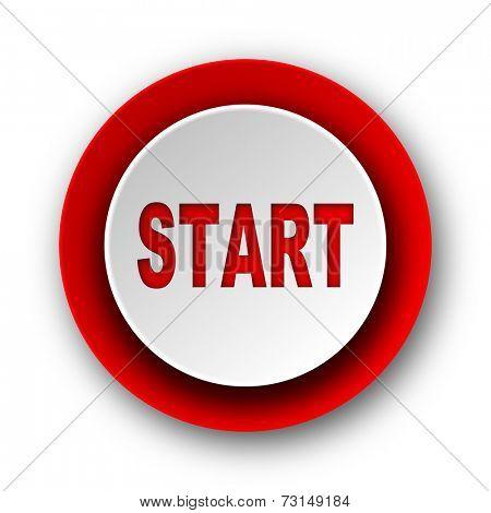 start red modern web icon on white background