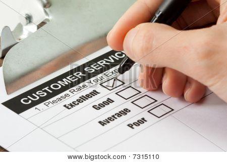 Service-Kundenumfrage