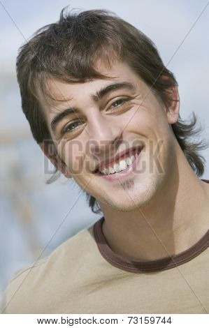 Close up of young man smiling