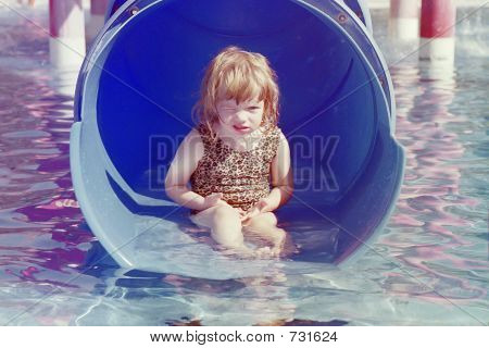 Petulant Toddler in Waterpark