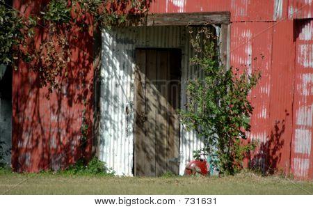 Rustic Red Barn Door