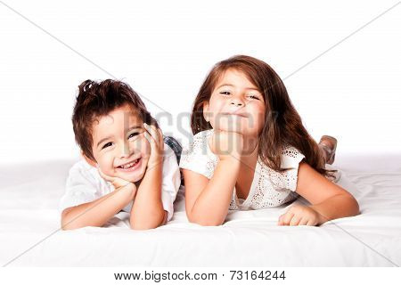Cute Children Siblings