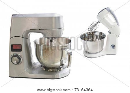 automatic mixer isolated under the white background