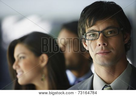 South American businessman wearing eyeglasses