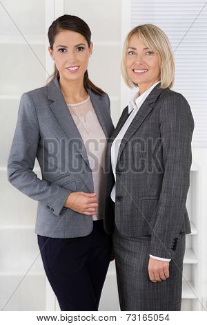 Team Portrait: Successful business woman making career in management positions.