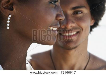 Close up of South American couple