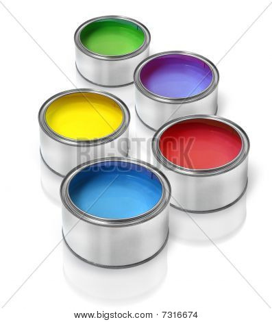 Color Paint Tin Cans