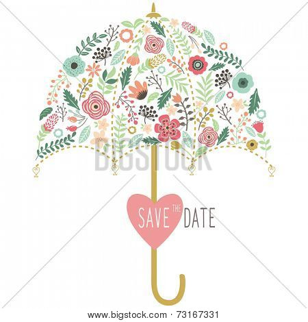 Flora Wedding Umbrella Elements
