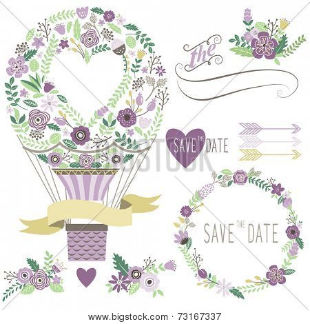 Vintage Floral Hot Air Balloon