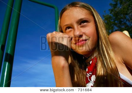 Girl Shaking Fist