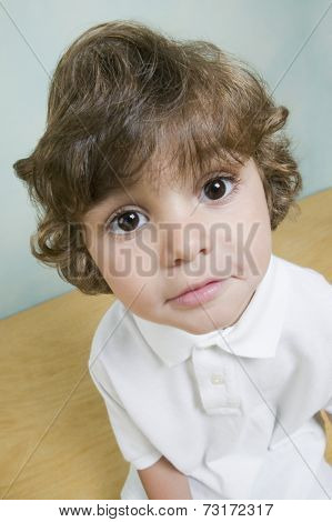Close up of Hispanic boy