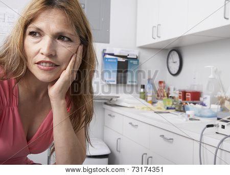 Hispanic woman at doctor's office