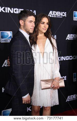 LOS ANGELES - OCT 1:  Nick Jonas, Olivia Culpo at the