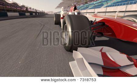 ein Formel-Rennwagen