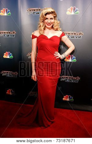 NEW YORK-SEP 17: Singer Emily West attends the post-show red carpet of America's Got Talent: The Finale Season 9 at Radio City Music Hall on September 17, 2014 in New York City.
