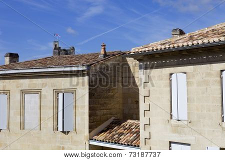 saint emilion architecture, in aquitaine, france