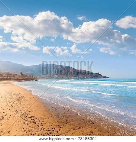La Azohia beach Murcia in Mediterranean sea Spain
