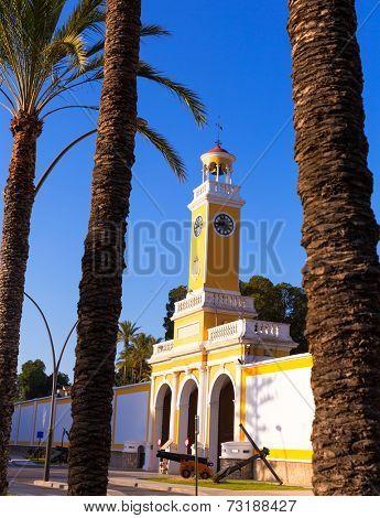 Arsenal of Cartagena Murcia XVIII century in Spain