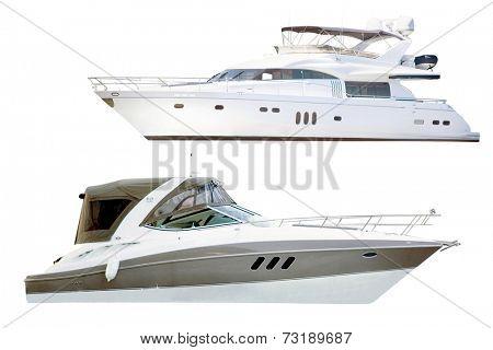 yacht under the white background