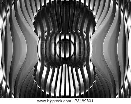Abstract silver metal art background 3d illustration