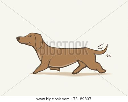Daschund cartoon