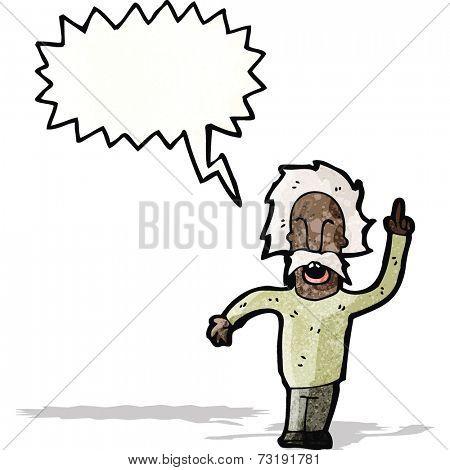 cartoon genius old man