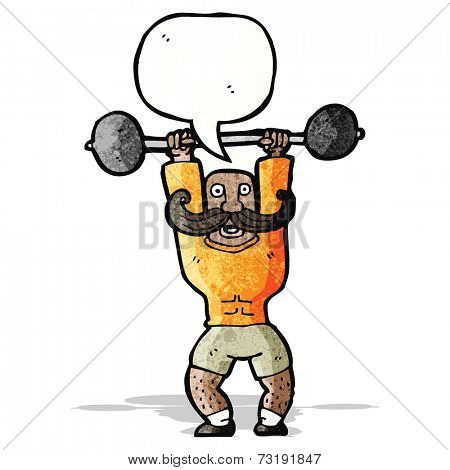 cartoon circus strongman