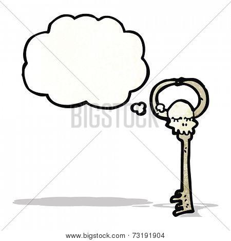 cartoon skeleton key