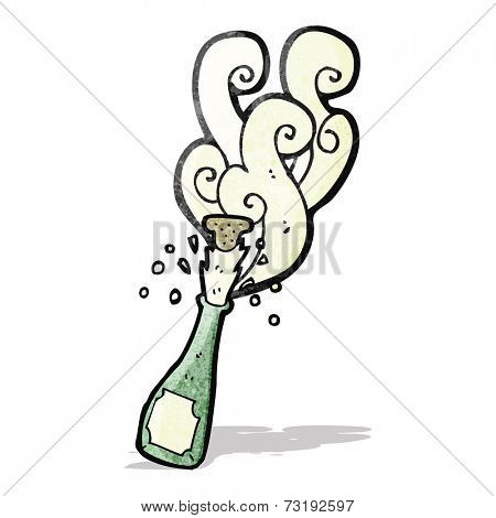 popped champange bottle cartoon