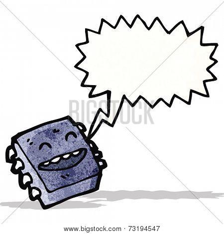 cartoon computer microchip