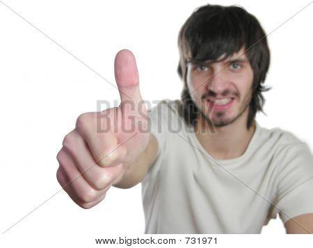 beardman with ok gesture