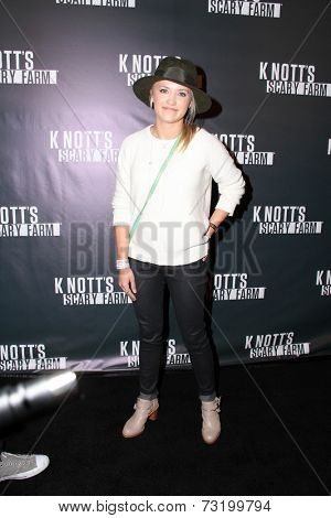 LOS ANGELES - OCT 3:  Emily Osment at the Knott's Scary Farm Celebrity VIP Opening  at Knott's Berry Farm on October 3, 2014 in Buena Park, CA