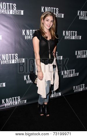 LOS ANGELES - OCT 3:  McKaley Miller at the Knott's Scary Farm Celebrity VIP Opening  at Knott's Berry Farm on October 3, 2014 in Buena Park, CA