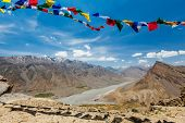 foto of himachal pradesh  - Buddhist prayer flags  - JPG