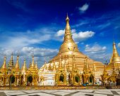 pic of yangon  - Myanmer famous sacred place and tourist attraction landmark  - JPG