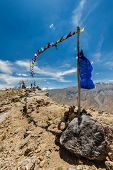 stock photo of himachal pradesh  - Buddhist prayer flags  - JPG