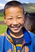 picture of mongolian  - Mongolian boy with a beautiful smile - JPG