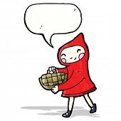 picture of little red riding hood  - little red riding hood cartoon - JPG