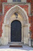 Medieval Gothic Church Door poster