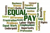 pic of equality  - Equal Pay Word Cloud on White Background - JPG