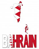 pic of bahrain  - Bahrain map flag and text illustration - JPG