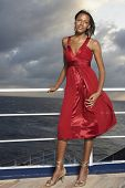 picture of evening gown  - Mixed Race women wearing evening gown - JPG