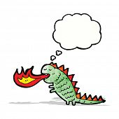 picture of fire-breathing  - cartoon fire breathing monster - JPG